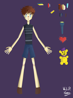 FNAF4 protagonist boy doll - WIP of something by marvyanaka