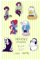 Undertale stickies by BloodyArchimedes
