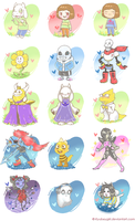 Undertale Characters Wallpaper by Daniela-Arts