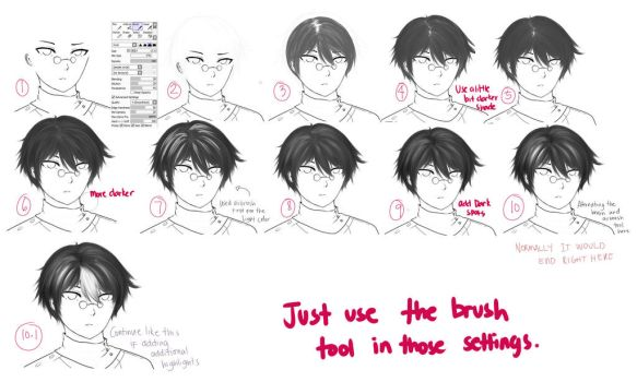 Hair Tutorial 2 by ama-chii