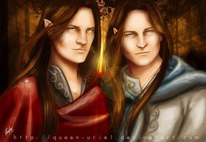 Elladan and Elrohir by Queen-Uriel