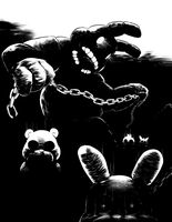 Shadow Bonnie and chains by EyeOfSemicolon