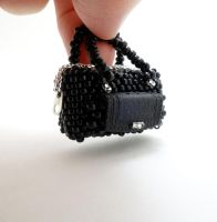 Miniature Purse - Black by pinkythepink