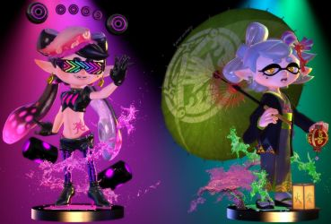 Splatoon 2] Squid Sisters Amiibo by Kameron-Haru