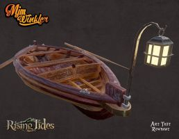 3D pirate rowboat by MisterBlackwood