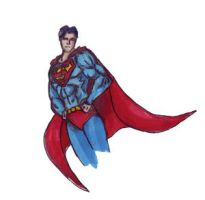 superman doodle by megamike75