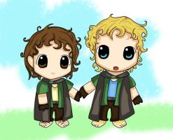 Kawaii Merry and Pippin by CazGirl