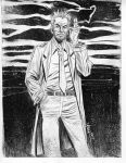 John Constantine line art drawing by LeighWalls-Artist