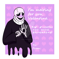Gaster's [late] Valentine Card by EdwinAlexander