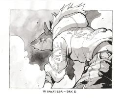 Inktober Day 6 by HJeojeo