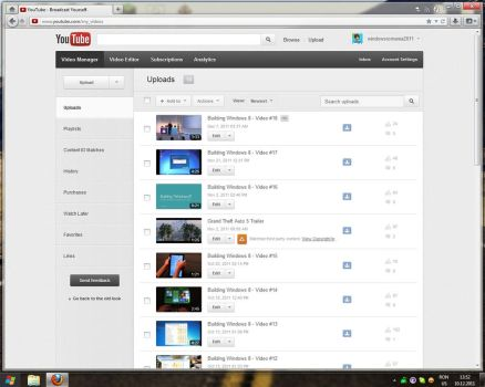 New Youtube Video Manager by Misaki2009