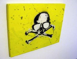 Skull Canvas by 2canart