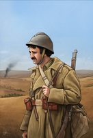 International Brigades soldier by RUGIDOart