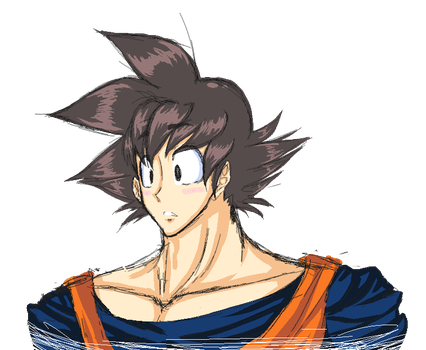 Goku Headshot by Anochu