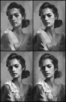 Portrait Practice 9 Process by AaronGriffinArt
