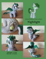 Knitted Plushies - Nightlight (OC) by haselwoelfchen