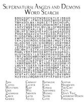 SN Word Search Angels and Demons by angiezinha