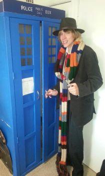 Fourth Doctor and TARDIS by flynn600
