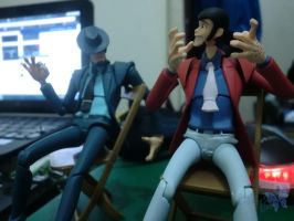 Toys: Lupin and Jigen by bloodyblue