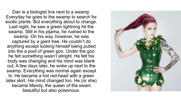 Queen of the swamp TG caption by cenaminh