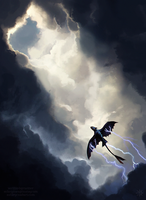 unholy offspring of lightning and death by Verlidaine
