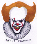 INKTOBER 2017 - Day 19 - Pennywise (2017) by Nicksplosivez