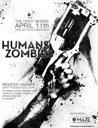 Humans Vs. Zombies Poster 1 by SPikEtheSWeDe