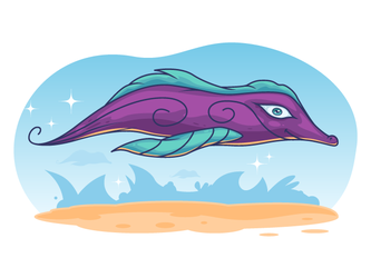 Free vector creature illustration by pixaroma