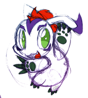 Gomamon Sketch by SilviShinyStar
