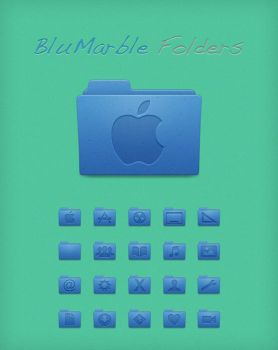 BluMarble Folders by Lukeedee