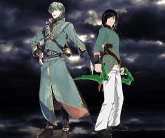 Innes and Ren (FE X RWBY) by alienskiller1