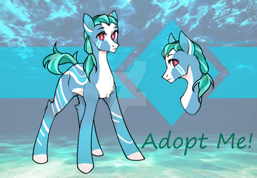 [OPEN] Ocean Pony Adopt by InkyNotebook