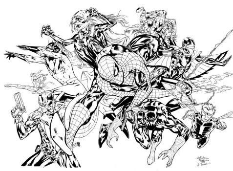 Spidey Thursday 20 - JimT inks by SpiderGuile