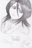Rukia Kuchiki_first sketch by flywithurwings
