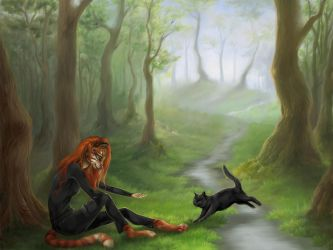 *profound title about forest and cats* by Valita-ES