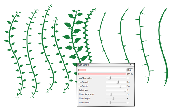 FireAlpaca vine brushes by obtusity
