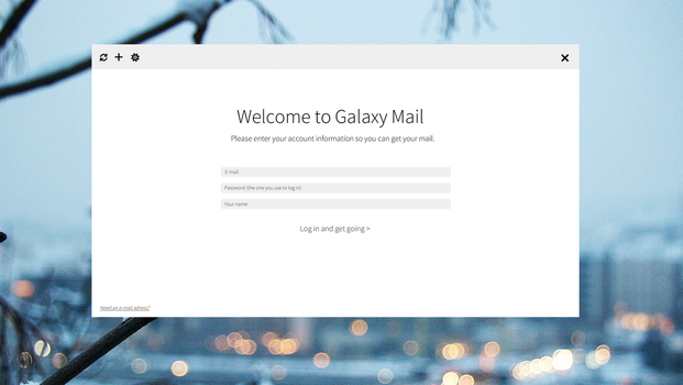 Galaxy Mail: First Run (New Font Variant) by thegbdc