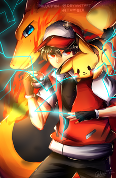 {pokemon red} gotta catch em all by Paluumin