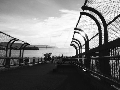 Taylor Avenue Dock, Greyscale by LACGallery
