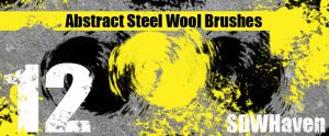 Abstract Steel Wool Brushes by sdwhaven
