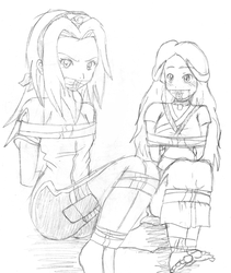 Sakura and Katara by Fecius