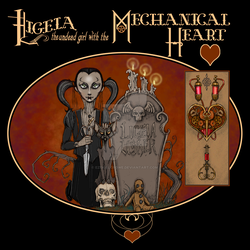 Ligeia, the undead girl with the mechanical heart by EzekielCrowe