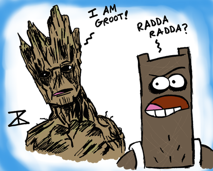 Groot meets Shnitzel Colored by FreakyComics