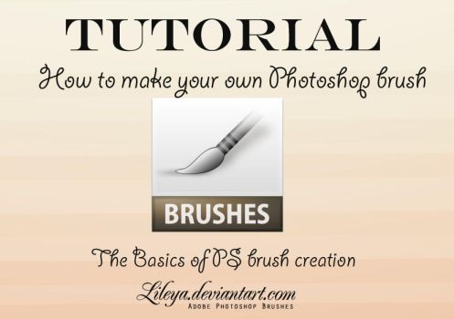 Tutorial: Making PS Brushes by Lileya