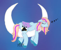 Sleepy Bittersweet [ych] by BlueBookWard