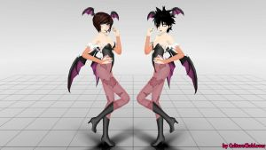 Morrigan Rin and Nyu by CultureClubLover