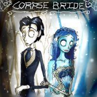 The Corpse Bride and her Groom by Smudgeandfrank