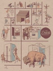 The Domestic Menagerie Poster by mlauritano