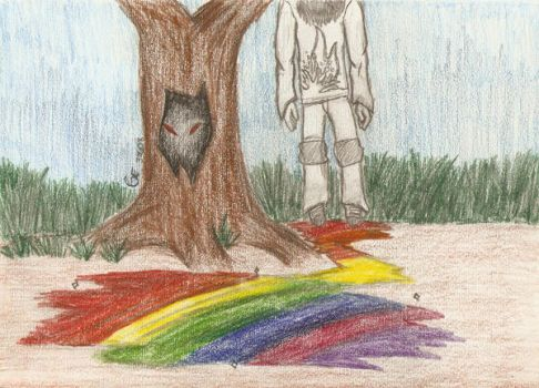 A colorful suicide. by MurderCr0w