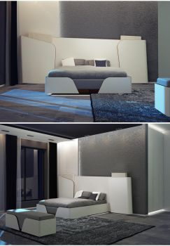 bedroom front view by hayriyepinar